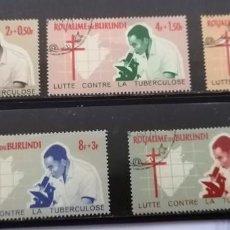 Sellos: BURUNDI, LUCHA CONTRA LA TUBERCULOSIS. SERIE, *,MH ( 21-182 ). Lote 251387285