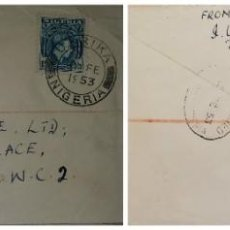 Sellos: O) 1953 NIGERIA, KING GEORGE VI, FROM OKRIKA TO LONDON, DATE CANCELLATION, XF. Lote 253923795