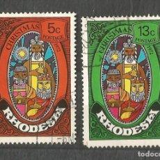 Timbres: RHODESIA - 2 VALORES - USADOS - NAVIDAD. Lote 253943900