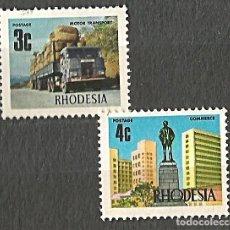 Sellos: RHODESIA - 2 VALORES - 2 SELLOS NUEVOS. Lote 254476860