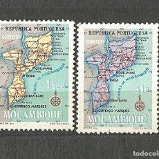 Sellos: MOZAMBIQUE PORTUGUÉS - 2 VALORES - MAPA. Lote 254484620