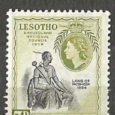 Sellos: LESOTHO / BASUTOLAND 1959 - QUEEN ELIZABETH II - NUEVO. Lote 254659445
