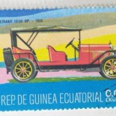 Sellos: SELLO DE GUINEA ECUATORIAL 0,05 E, 1977, COCHES ANTIGUOS, USADO SIN SEÑAL DE FIJASELLOS. Lote 255350250