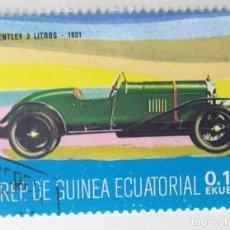 Sellos: SELLO DE GUINEA ECUATORIAL 0,10 E, 1977, COCHES ANTIGUOS, USADO SIN SEÑAL DE FIJASELLOS. Lote 255350315