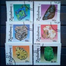 Sellos: ZIMBABWE MINERALES SERIE DE SELLOS USADOS. Lote 257392265