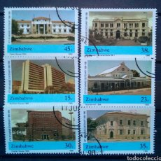 Sellos: ZIMBABWE ARQUITECTURA COLONIAL SERIE DE SELLOS USADOS. Lote 257402455