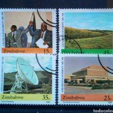 Sellos: ZIMBABWE PROGRESO NACIONAL SERIE DE SELLOS USADOS. Lote 257402700
