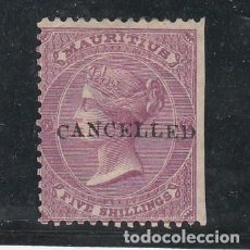 Sellos: MAURICIO .40 SOBRECARGADO CANCELLERD SIN GOMA,. Lote 257419960