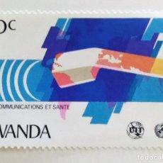 Sellos: SELLO DE RUANDA 30 C - 1981 - TELECOMUNICACIONES - NUEVO SIN SEÑAL DE FIJASELLOS. Lote 261698945