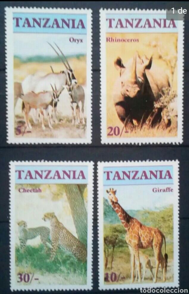 FAUNA AFRICANA SERIE DE SELLOS NUEVOS DE TANZANIA (Sellos - Extranjero - África - Otros paises)