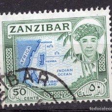 Sellos: ZANZIBAR , 1961 , STAMP MICHEL 248. Lote 261989330