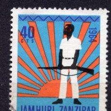 Sellos: ZANZIBAR , 1964 , STAMP MICHEL 308. Lote 261989605