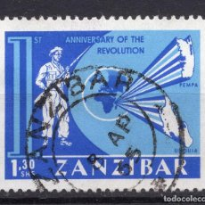 Sellos: ZANZIBAR , 1965 , STAMP MICHEL 318. Lote 261989845