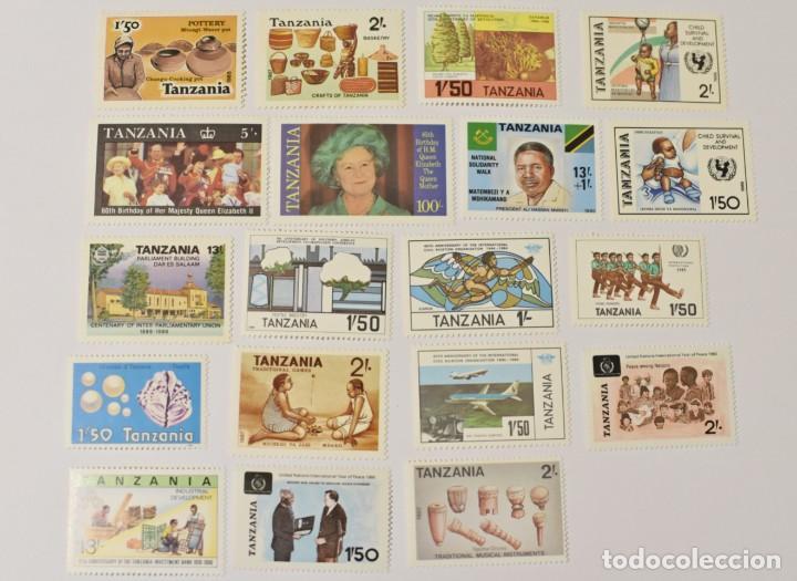 19 SELLOS NUEVOS DE TANZANIA (Sellos - Extranjero - África - Otros paises)