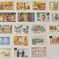 Francobolli: 19 SELLOS NUEVOS DE TANZANIA. Lote 262071245