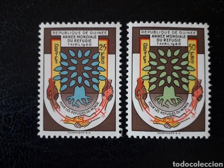 GUINEA YVERT 32/3 SERIE COMPLETA NUEVA *** 1960 AÑO MUNDIAL DEL REFUGIADO. ÁRBOL. PEDIDO MÍNIMO 3€ (Sellos - Extranjero - África - Otros paises)