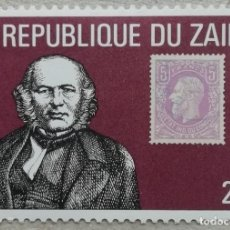Francobolli: 1980. ZAIRE. 970. CENTENARIO DE LA MUERTE DE SIR ROWLAND HILL. NUEVO.. Lote 262579655