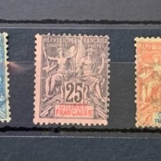 Sellos: AÑO 1892. GUINEE FRANÇAISE - GUINEA FRANCESA YVERT Nº4,6,8,10 Y 11. Lote 264958069
