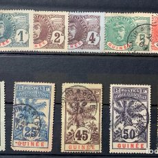 Sellos: AÑO 1906/07. SELLOS DE LA SERIE EN USADO GUINEA FRANCESA - GUINEE FRANÇAISE. Lote 264961399