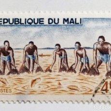 Sellos: SELLO DE MALI 4 F - 1966 - PESCADORES - USADO SIN SEÑAL DE FIJASELLOS. Lote 268827709