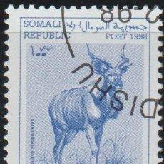 Sellos: SOMALIA 1998 COL 04/01 SELLO * FAUNA ANTILOPES GREATER KUDU (TRAGELAPHUS STREPSICEROS) CENICIENTA. Lote 269807613