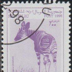 Sellos: SOMALIA 1998 COL 04/03 SELLO * FAUNA MAMIFEROS OKAPI (OKAPIA JOHNSTONI) CENICIENTA SOMALI POST REPUB. Lote 269807718