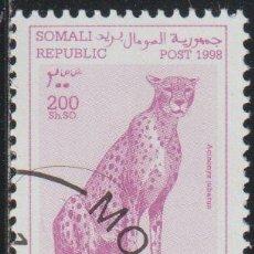 Sellos: SOMALIA 1998 COL 04/04 SELLO * FAUNA GUEPARDOS CHEETAH (ACINONYX JUBATUS) CENICIENTA SOMALI POST REP. Lote 269807908