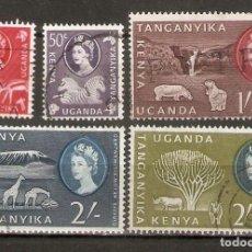 Selos: KENYA, UGANDA & TANGANYIKA 1960 . FAUNA. Lote 273713103