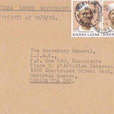 Sellos: CORREO AEREO: SIERRA LEONA 1978. Lote 277117848