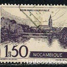 Sellos: MOZAMBIQUE IVERT Nº 370 (AÑO 1948), ORILLAS DEL RIO PINGUE, USADO. Lote 277731158