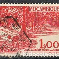 Sellos: MOZAMBIQUE IVERT Nº 368 (AÑO 1948), RECOLECTA DEL LA NUEZ EN ZAMBEZIA DEL SUR, USADO. Lote 277735148