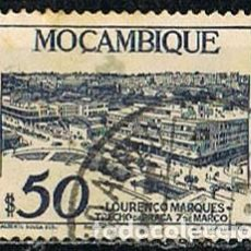 Sellos: MOZAMBIQUE IVERT Nº 365 (AÑO 1948),PLAZA DEL 7 DE MARZO EN LOURENZO MARQUEZ, USADO. Lote 277735388