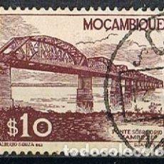 Sellos: MOZAMBIQUE IVERT Nº 361 (AÑO 1948), PUENTE SOBRE EL RIO ZAMBEZA, USADO. Lote 277735858