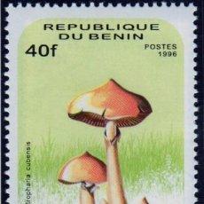 Sellos: ÁFRICA. BENÍN. SETAS. 1996. NUEVO SIN CHARNELA. Lote 278305358