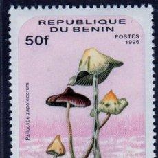 Sellos: ÁFRICA. BENÍN. SETAS. 1996. NUEVO SIN CHARNELA. Lote 278305533