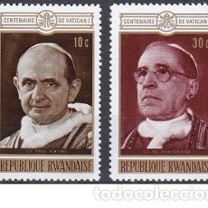 Sellos: LOTE DE SELLOS NUEVOS DE RWANDA - VATICANO - PAPAS - AHORRA PORTES COMPRA MAS. Lote 283665498
