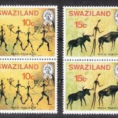 Sellos: SWAZILAND 1977 PINTURAS RUPESTRES SERIE COMPLETA POR PAREJAS **. Lote 287219903