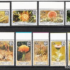 Sellos: SWAZILAND FLORES SERIE COMPLETA **. Lote 287351538