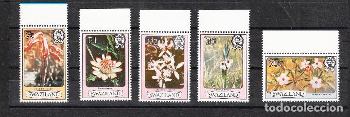 Sellos: SWAZILAND FLORES SERIE COMPLETA ** - Foto 2 - 287351538