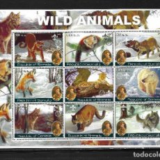 "Sellos: SOMALIA 2002, HOJA BLOQUE ANIMALES SALVAJES "" SCOUTS "" MNH.. Lote 288159008"