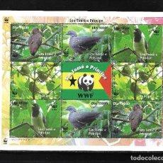 Sellos: SAO TOMÉ Y PRINCIPE 2005, HOJA BLOQUE FAUNA AVES WWF. MNH.. Lote 288168548