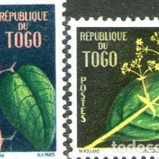 Sellos: TOGO SERIE COMPLETA X 2 SELLOS MINT FLORES ANO 1959. Lote 288295358