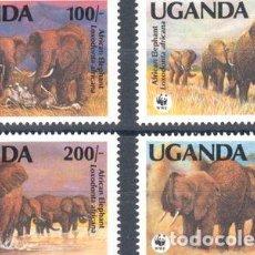 Sellos: FAUNA WWF UGANDA 1991 SERIE MINT MNH. Lote 288295508