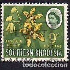 Sellos: RHODESIA DEL SUR (1964). ORQUÍDEAS. YVERT Nº 99. USADO.. Lote 288342713
