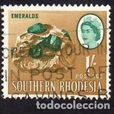 Sellos: RHODESIA DEL SUR (1964). ESMERALDA. YVERT Nº 100. USADO.. Lote 288343058