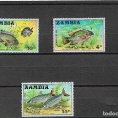 Sellos: ZAMBIA 1971, IVERT 74/76 TEMA FAUNA PECES. MNH.. Lote 288953338