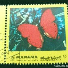 Sellos: MICHEL AJ-MN 1117AA - MANAMA - BUTTERFLIES - 1972. Lote 288975058