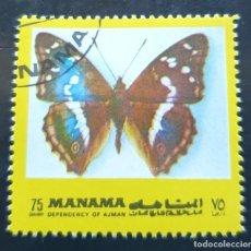 Sellos: MICHEL AJ-MN 1117AA - MANAMA - BUTTERFLIES - 1972. Lote 288975183
