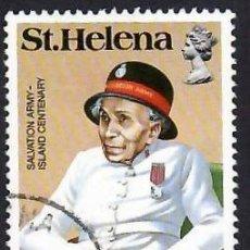 Sellos: SANTA ELENA (1984). REBECCA FULLER, SECRETARIA DEL EJÉRCITO DE SALVACIÓN. YVERT Nº 408. USADO.. Lote 289517618