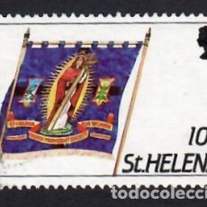 Sellos: SANTA ELENA (1986). ESTANDARTE DE LA IGLESIA DE LA PROVIDENCIA. YVERT Nº 433. USADO.. Lote 289518143